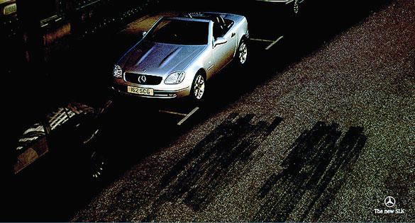 Mercedes skid mark